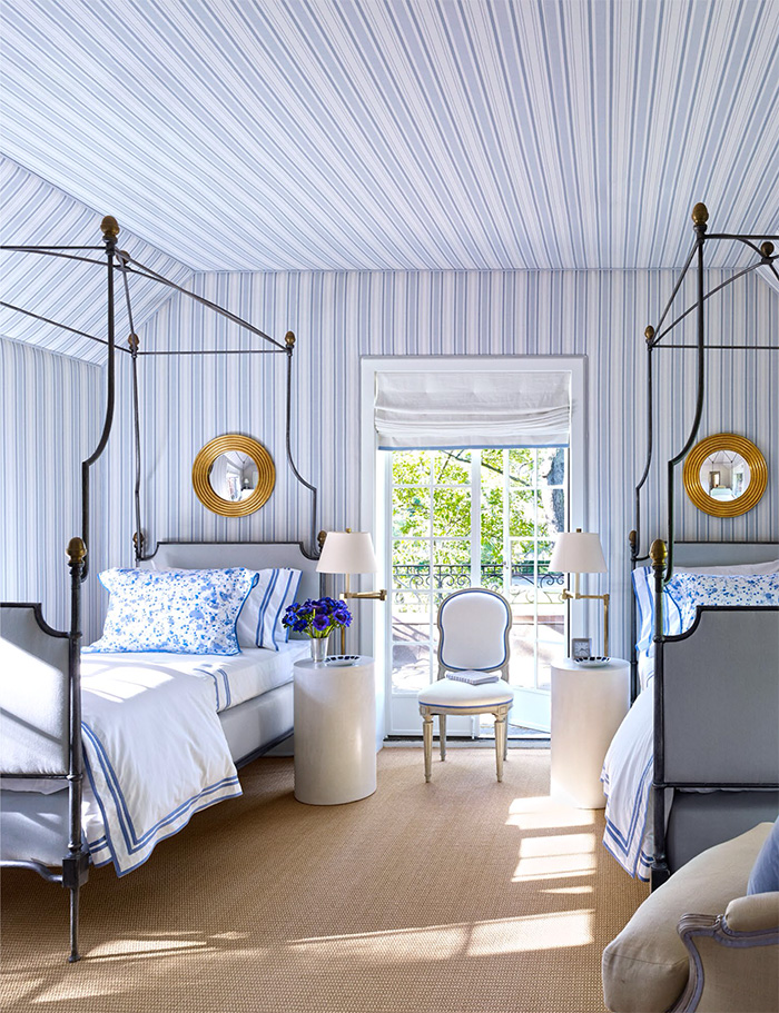 bedroom-blue-and-white-bruce-budd-bennison-stripe-campaign-bed